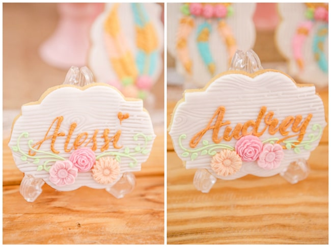 Twins Boho Themed 1st Birthday Party Cookies