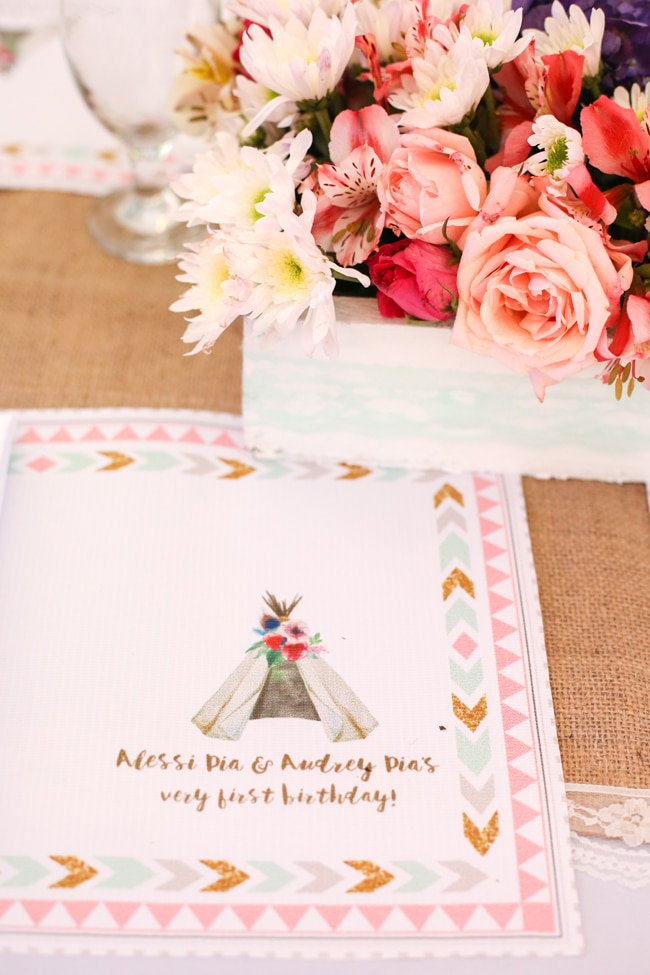 Twins Boho Themed 1st Birthday Party