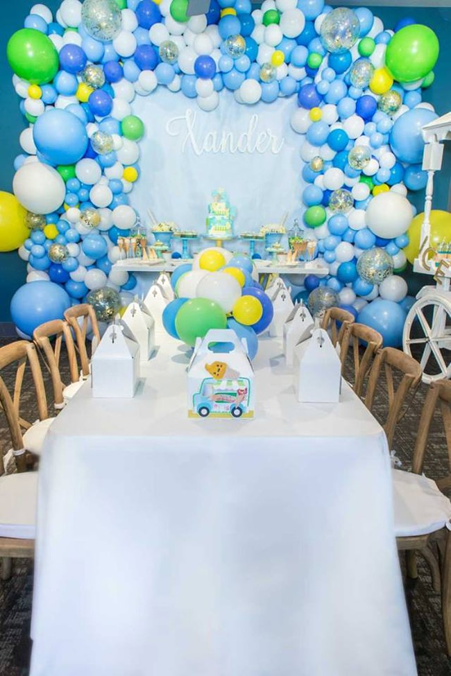 Boys Ice Cream Themed Birthday Party Pretty My Party