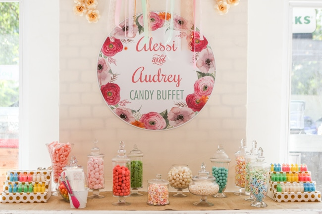 Twins Boho Themed 1st Birthday Party Candy Bar