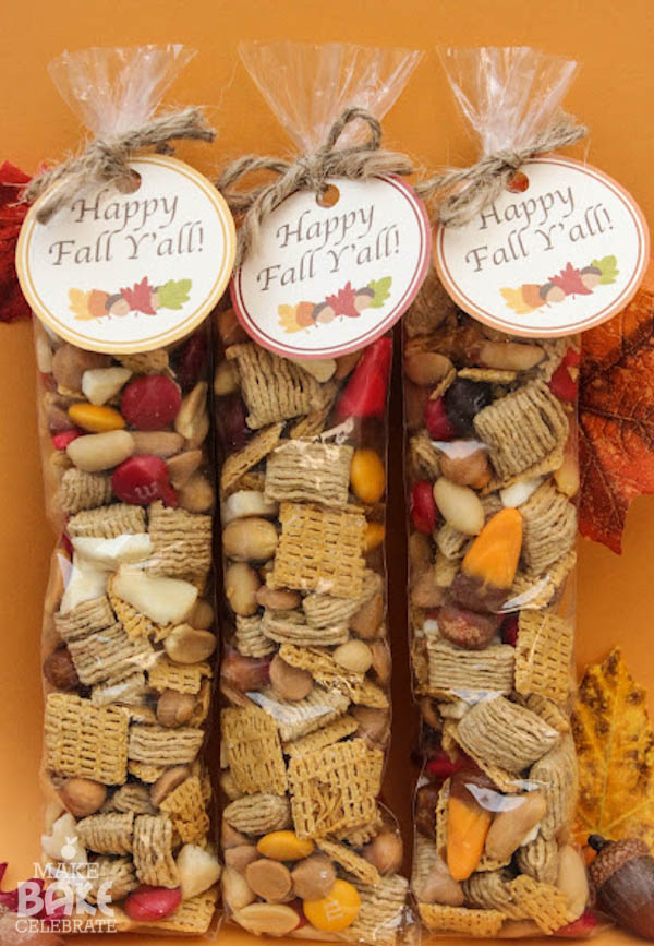 Fall Trail Mix with Free Printable | Fall Festival Party Ideas