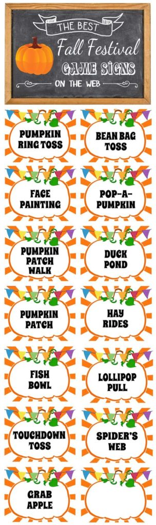 Free Fall Festival Printable Signs