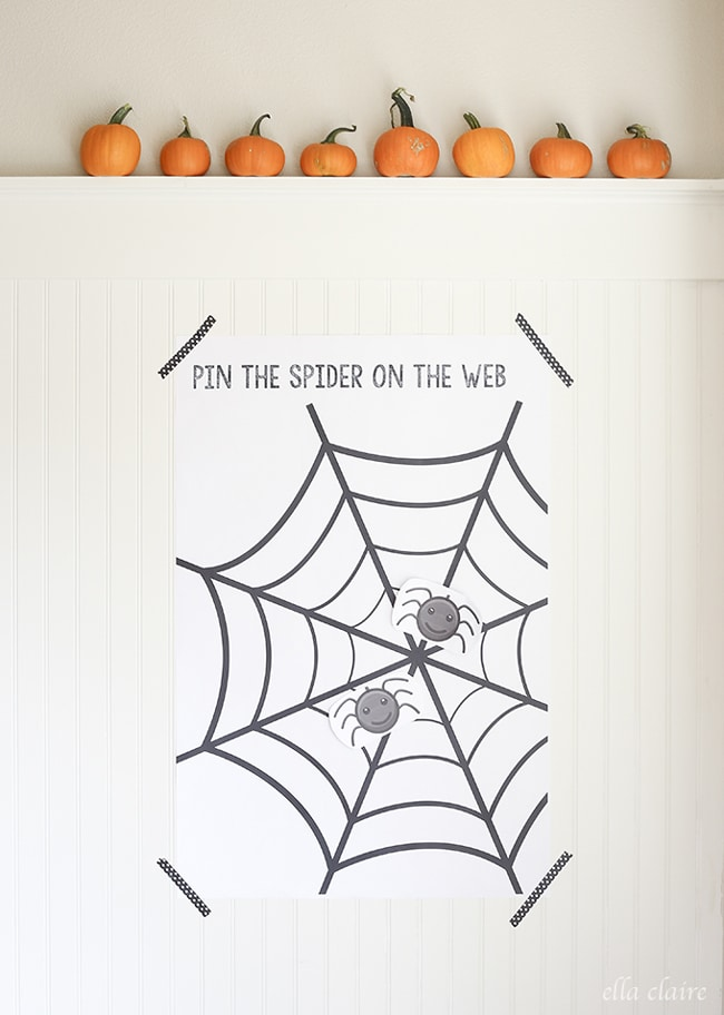 Free Pin the Spider on the Web Printable Game