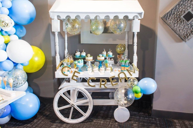 Boys Ice Cream Party Cart