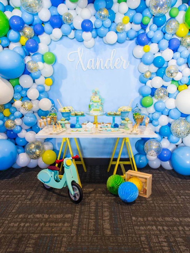 Boys Ice Cream Birthday Party Dessert Table