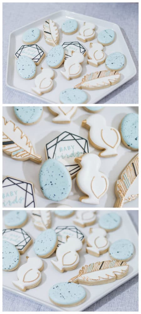 Little Bird Themed Baby Shower Cookies