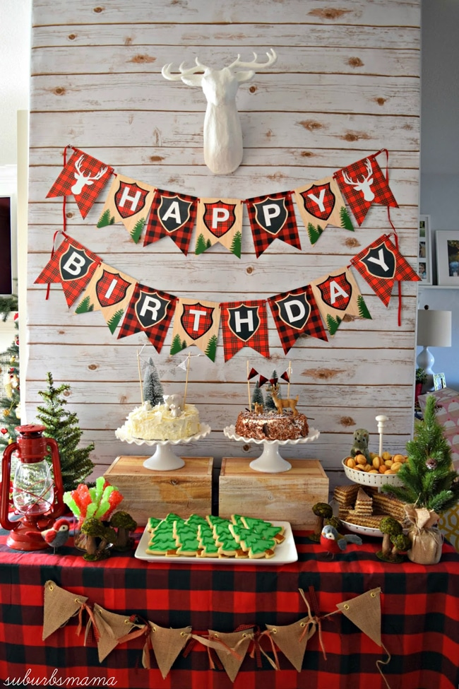 24 lumberjack themed birthday party ideas pretty my party for Christmas table cover ideas