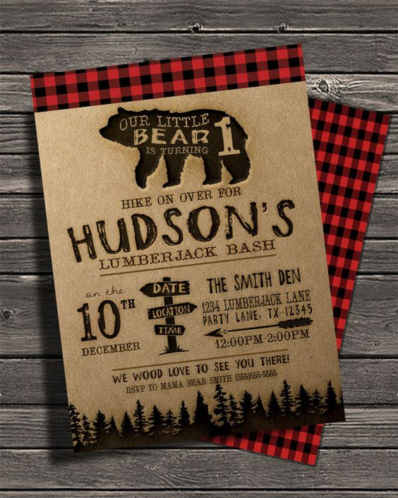 Lumberjack Party Invitation | Lumberjack Party Ideas