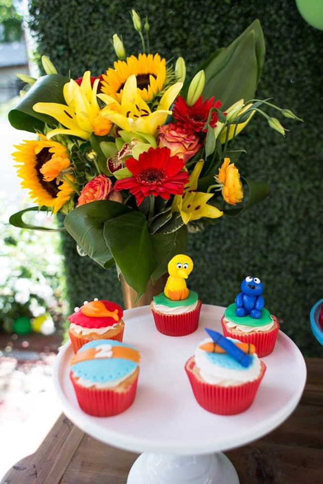 Sesame Street Party Cupcakes