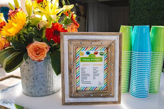 "Sesame Street Party Sign - ""Tipsy Street"" Drink Menu for the Adults!"