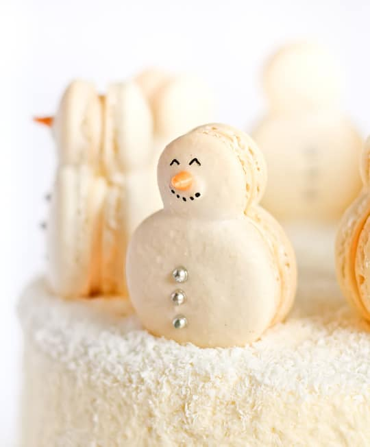 Snowman Macarons | Winter Wonderland Party Ideas