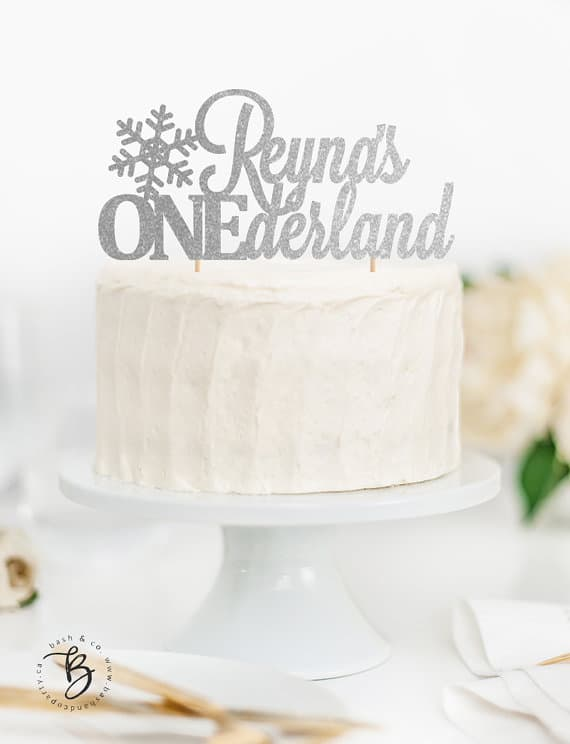 ONEderland Cake Topper | Winter Wonderland Party Ideas