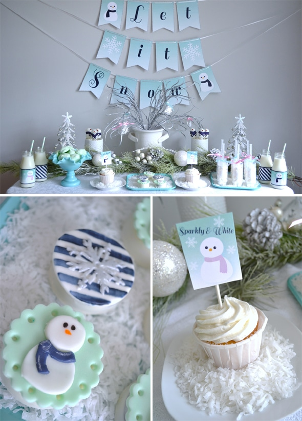 Winter Wonderland Dessert Table | Winter Wonderland Party Ideas