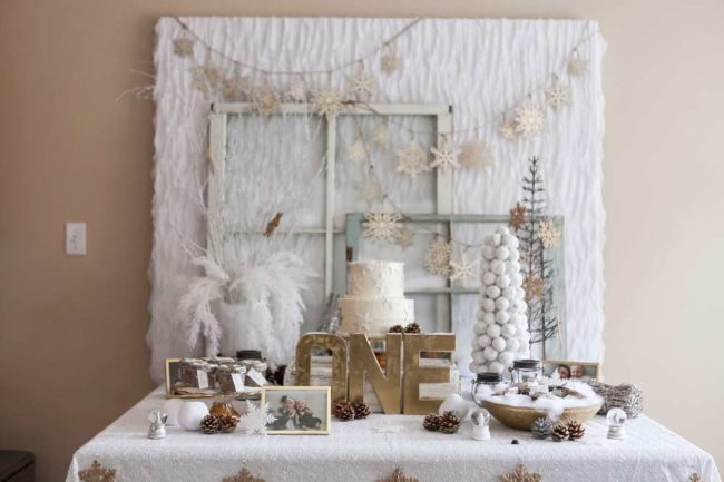 Winter Wonderland Sweets Table | Winter Wonderland Party Ideas