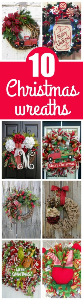 10 Fabulous Holiday Wreaths You Need For Your Home on Pretty My Party