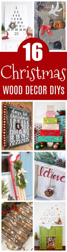 16 utterly perfect diy wood christmas decorations on pretty my party - Diy Wood Christmas Decorations