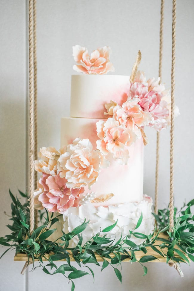 Gorgeous Garden Party Birthday Cake With Flowers on Pretty My Party