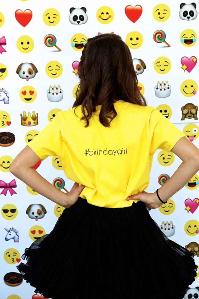 Awesome Emoji Themed 11th Birthday Party Shirt