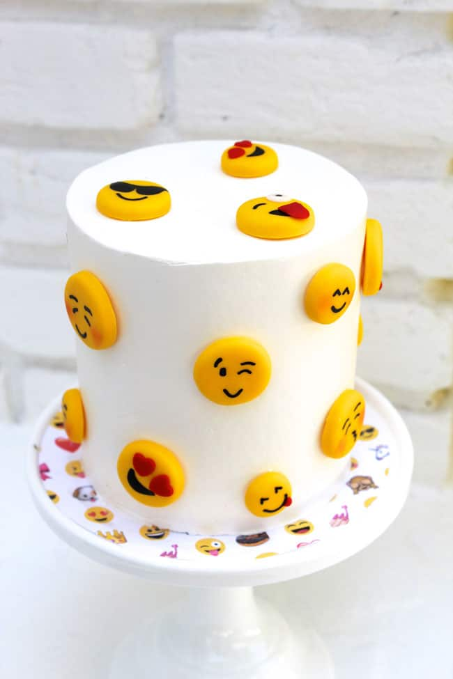 Awesome Emoji Themed 11th Birthday Party Cake