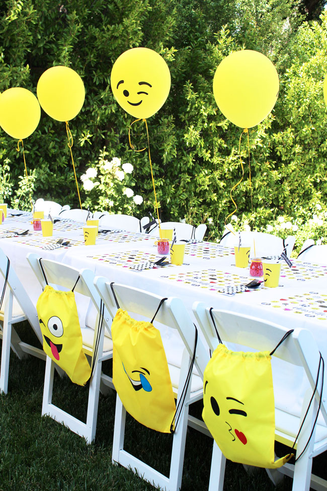 Awesome Emoji Themed 11th Birthday Party Table