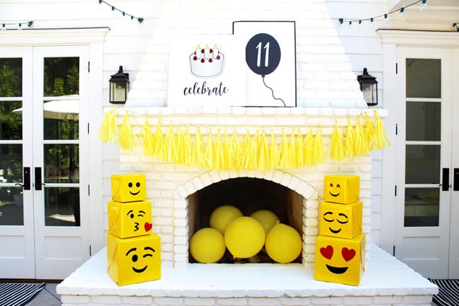 Awesome Emoji Themed 11th Birthday Party Decorations