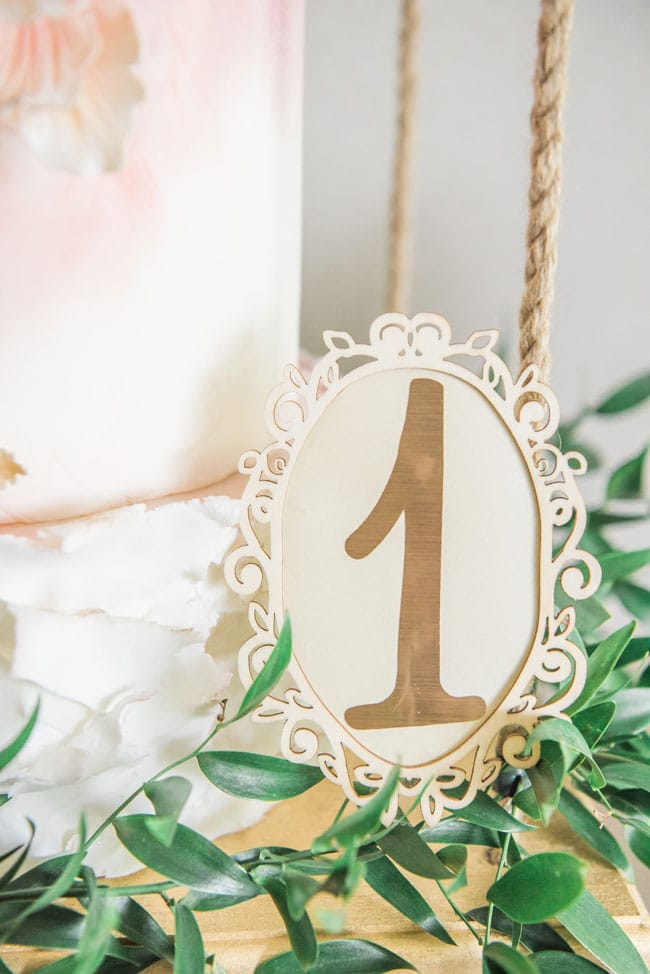 Wooden Number 1 Sign for Garden 1st Birthday on Pretty My Party