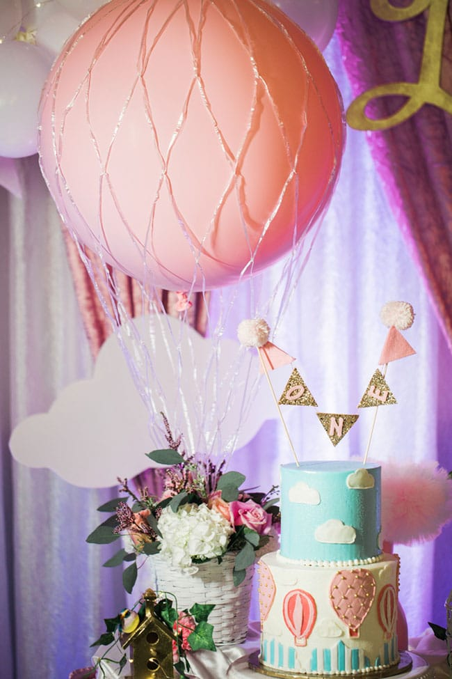 Gorgeous Hot Air Balloon 1st Birthday Party