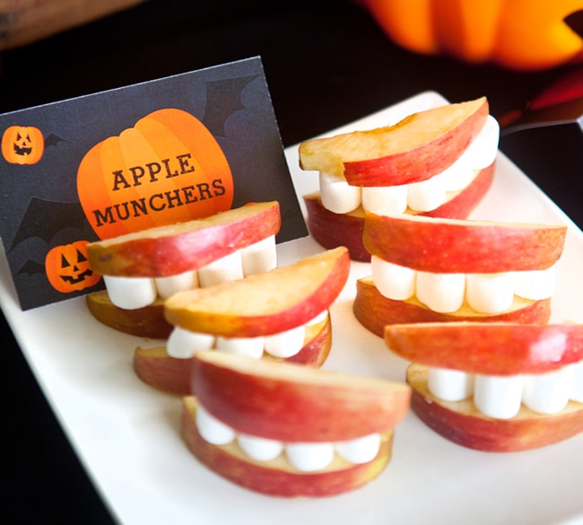Apple Munchers - Healthy Halloween Snacks