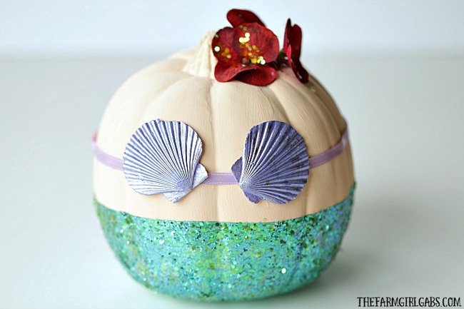 No Carve Little Mermaid Pumpkin for Kids