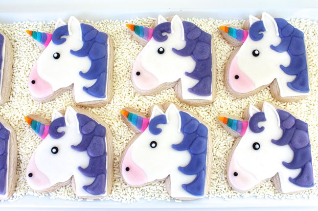 Awesome Emoji Themed 11th Birthday Party Unicorn Cookies