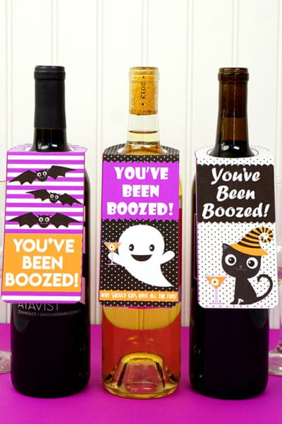 13 Free Halloween Booed and Boozed Printables