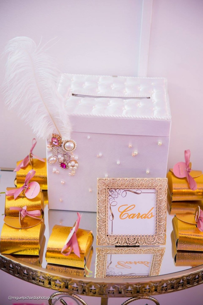 Gorgeous Marie Antoinette Baby Shower Card Box - Pretty My Party