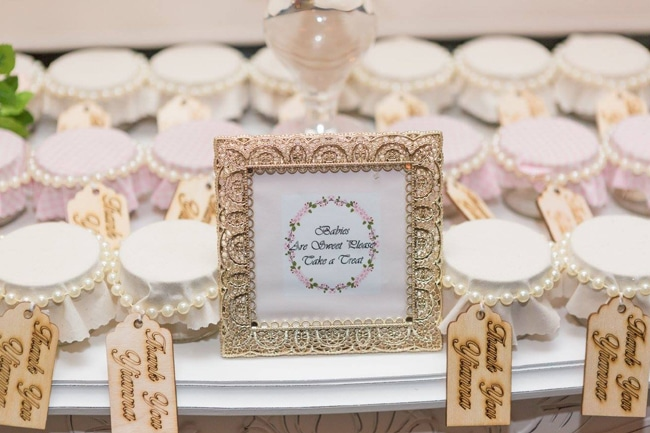 Blush Garden Baby Shower Favors