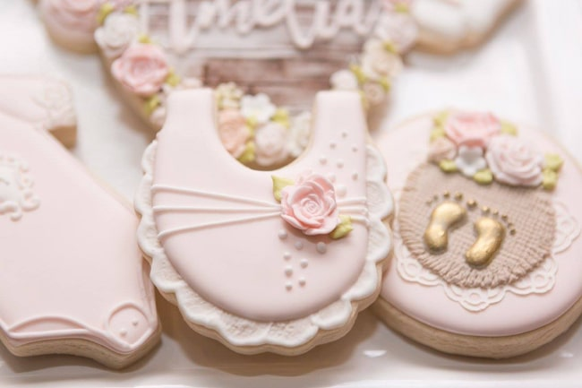 Garden Baby Shower Cookies