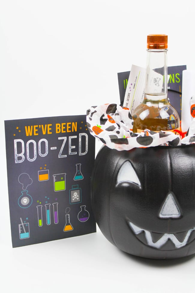 We've Been Boozed Gift Idea with Free Printable