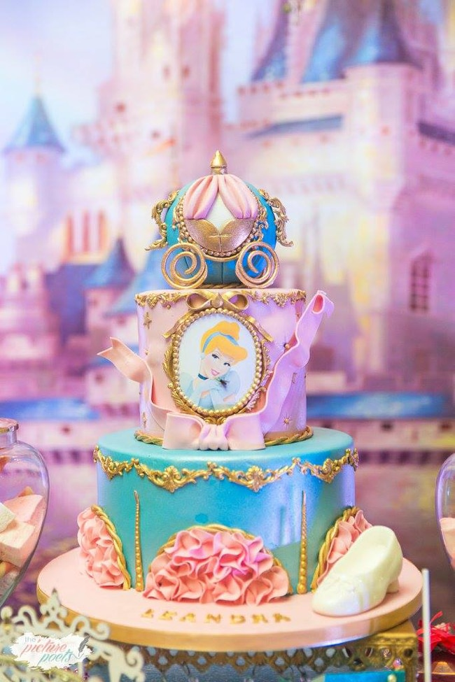 Magical Cinderella Themed Second Birthday Party Pretty My Party
