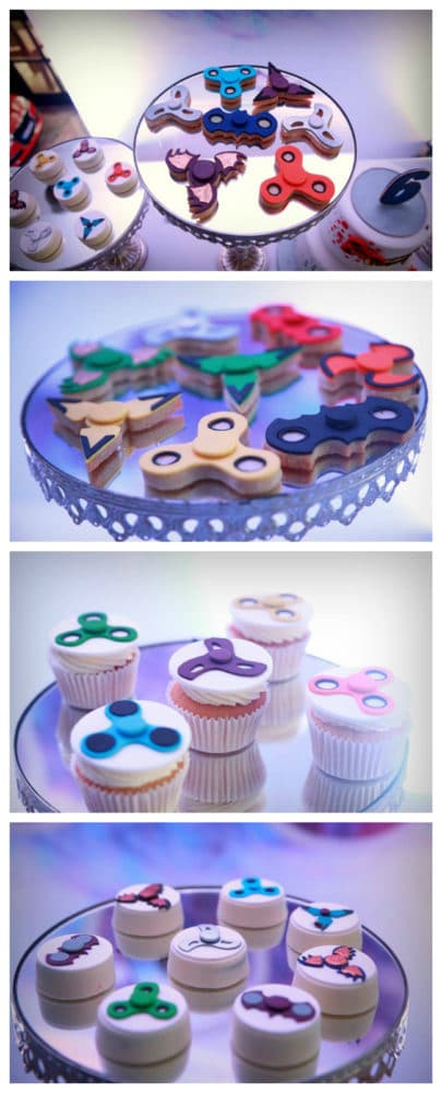 Awesome Fidget Spinner Themed Birthday Party Desserts on Pretty My Party