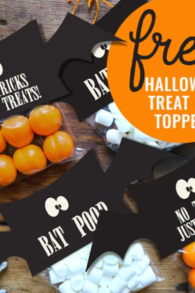 Free Treat Bag Toppers For Halloween