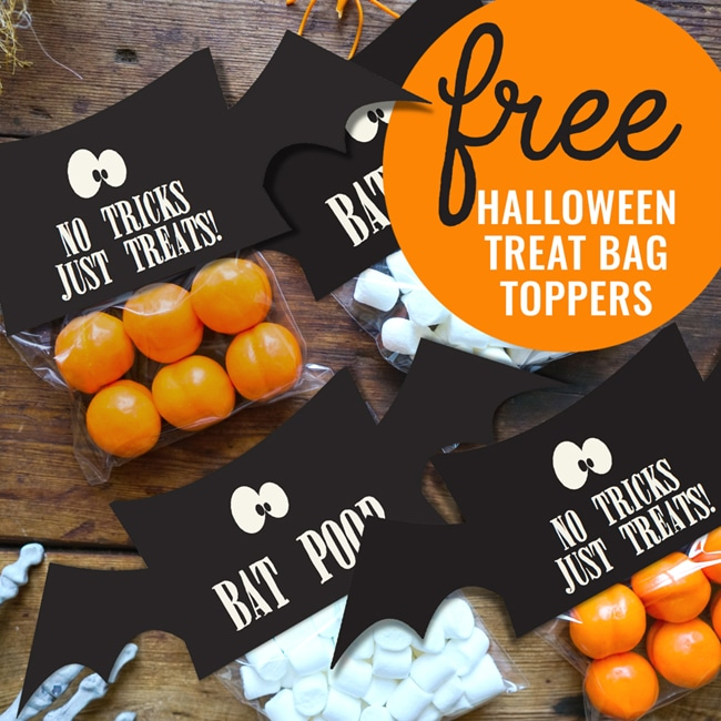 Free Halloween Treat Bag Toppers on Pretty My Party