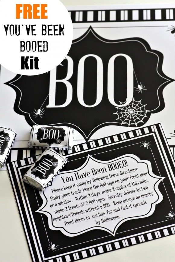 picture regarding You've Been Boozed Printable titled 13 Absolutely free Halloween Booed or Boozed Printables