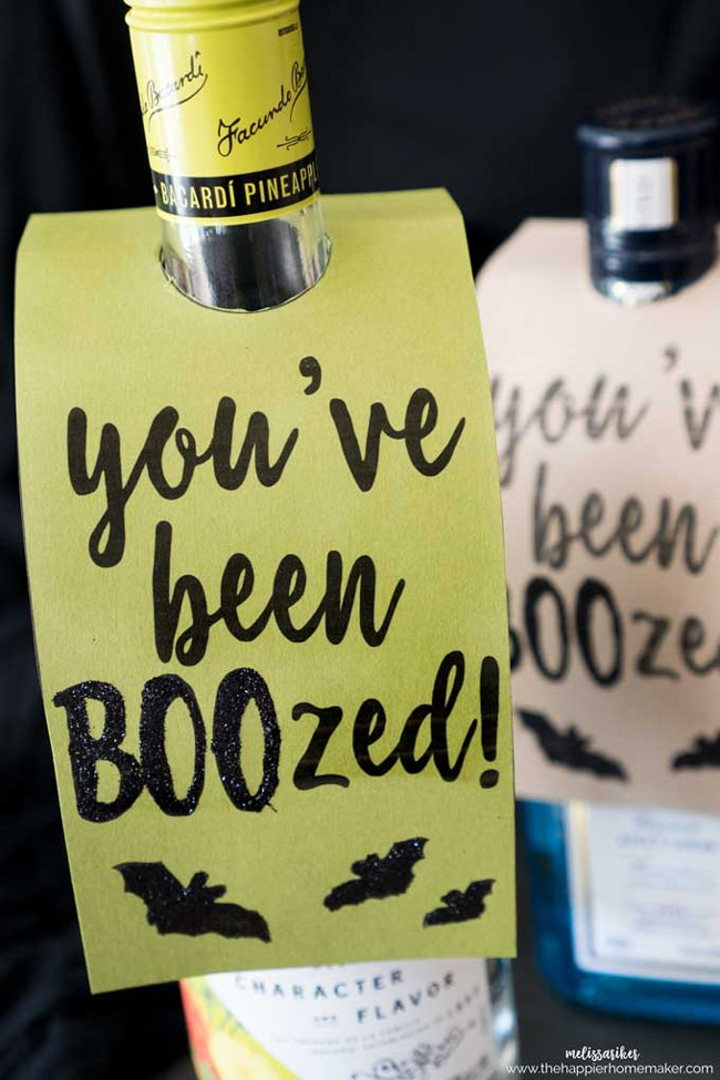 Halloween You've Been Boozed Free Tag Printable