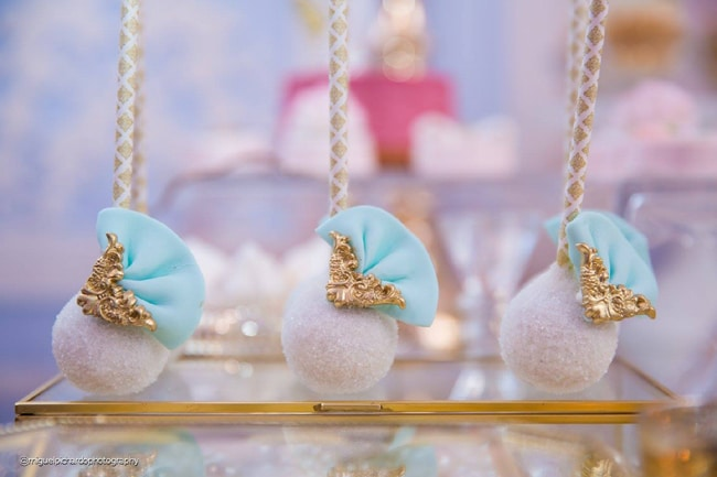 Gorgeous Marie Antoinette Baby Shower Cake Pops - Pretty My Party