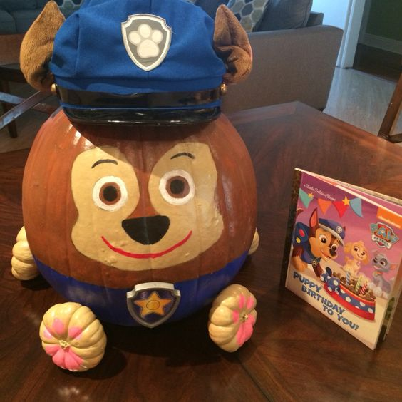 No Carve Paw Patrol Chase Pumpkin for Kids