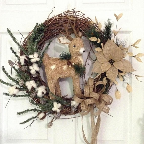 Rustic Reindeer Wreath