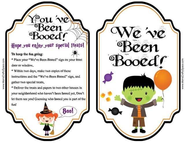 graphic about You've Been Boozed Printable identify 13 Cost-free Halloween Booed or Boozed Printables