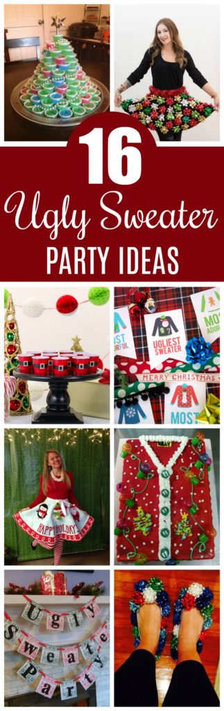 16 Totally Unforgettable Ugly Christmas Sweater Party Ideas on Pretty My Party