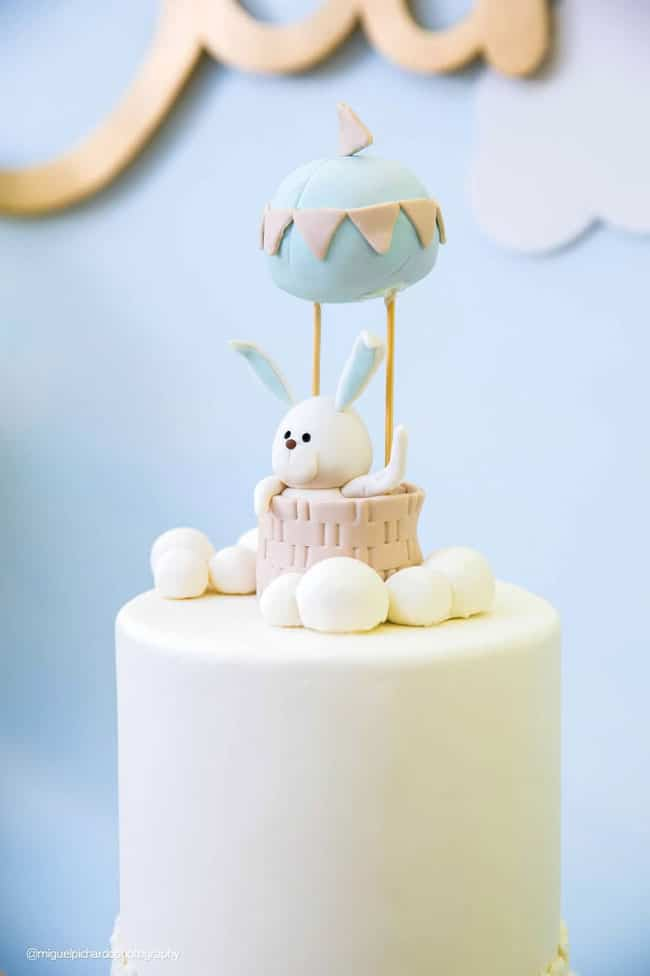 Boys Hot Air Balloon First Birthday Party Cake Topper