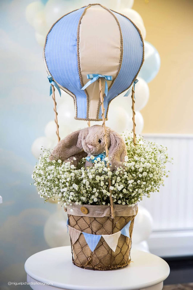 Boy's Hot Air Balloon First Birthday Party Decor