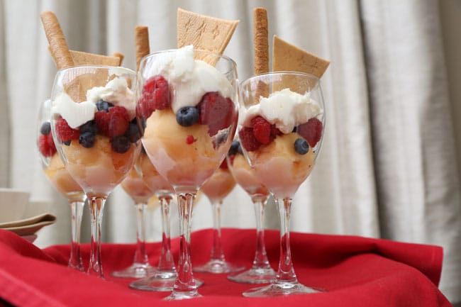 Chic Floral Themed Bridal Shower Brunch, Fruit Parfaits