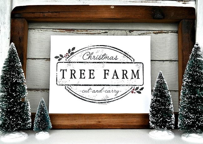 Free Christmas Tree Farm Sign Printable